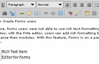 Forms Rich Text Editor Java Bean