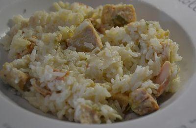Risotto saumon poireaux fiche cookeo