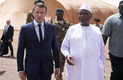 Visite présidentielle d'Emmanuel Macron à Gao au Mali