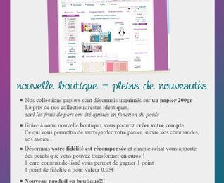 Blog candy Nouvelle boutique Pimenta's paper