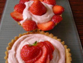 Tartelettes à la mousse de fraises