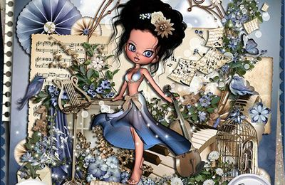 BLUE SERENADE, le nouveau kit de Stephy Scrap