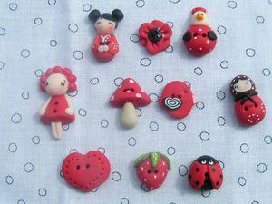 Les boutons en colume de boutonsbobines