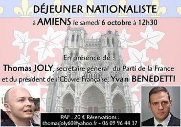 Déjeuner nationaliste à Amiens le 6 octobre