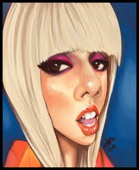 Caricature de Lady Gaga