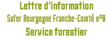 Lettre d'information SAFER BFC