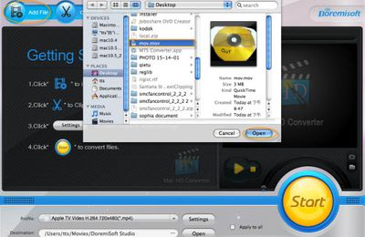 Convert Mac QuickTime to MPEG 4, Convert QT MOV to MP4 for Mac