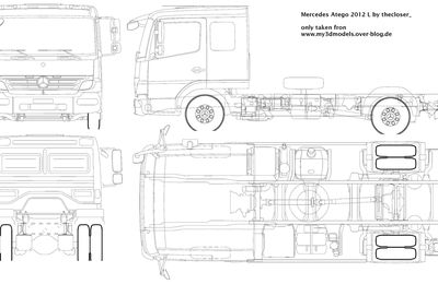Blueprint of Mercedes Atego 2012 L