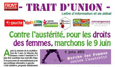 Trait d'union n°5 - juin 2013