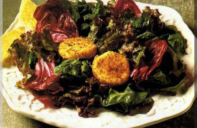 Salade tiède d'épinards et de chèvre