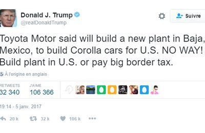 Toyota, la Chine, la chanteuse, et les tweets de Trump (ASI)