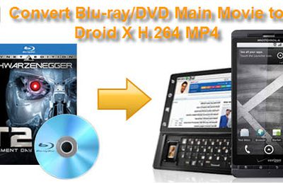 Convert Blu-ray DVD Main Title or Chapters to Droid X H.264 MP4