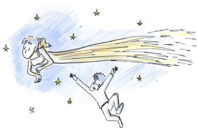 Plan sur la comète