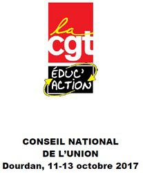 APPEL DU CONSEIL NATIONAL DE L'UNION REUNI DU 11 AU 13 OCTOBRE 2017