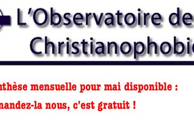 Synthèse de la christianophobie en France