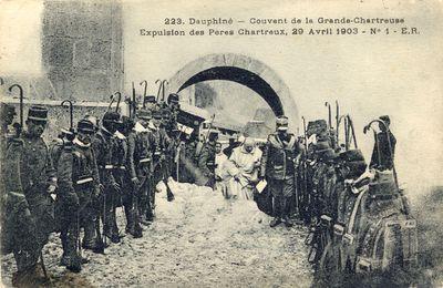 le 29 avril 1903 :expulsion des chartreux de la Grande Chartreuse.
