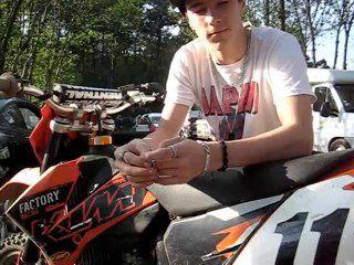 Ludovic Churlet, réaction après les courses - motocross Vaas