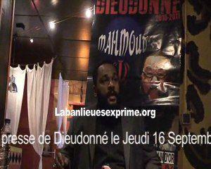 2 videos : Conférence de presse de Dieudonné, à son retour d'Iran