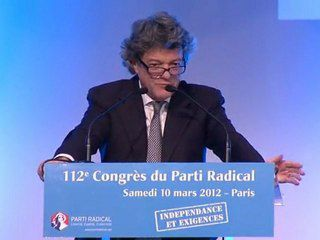 Intervention de Jean Louis BORLOO au congrès 2012 du Parti Radical