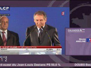 Déclaration de François Bayrou à l'occasion du second tour des élections législatives - TF1 - 17/06/2012, 20h35