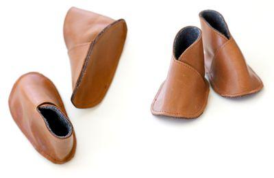Chaussons de cuir pour bébé