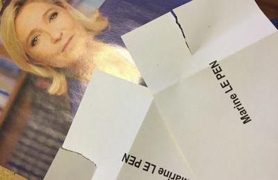 Ardèche: des bulletins de vote Le Pen déchirés dans les enveloppes de propagande  et dans l'Allier aussi