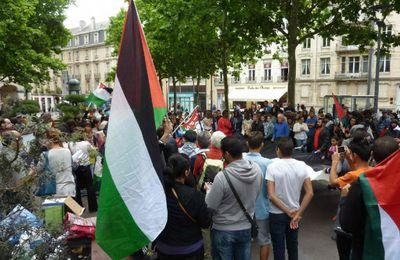 Manifestation pour Gaza à Nancy le 12 juillet 2014