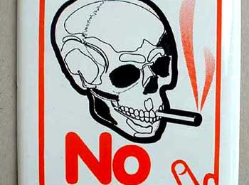 No smoking today!