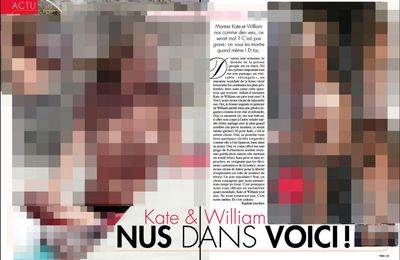 Voici publie des photos de Kate Middleton et du Prince William nues !