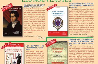 Catalogue généalogique 2015