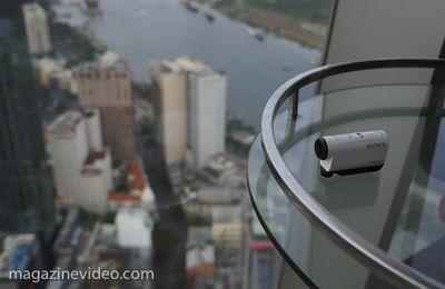 test CamSport Sony HDR-AZ1VR pack télécommande