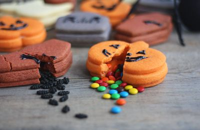 Biscuits cookies pinata pour Halloween !