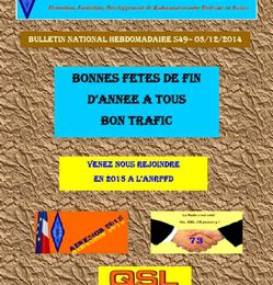 Bulletin National Hebdomadaire ANRPFD S49-05/12/2014!