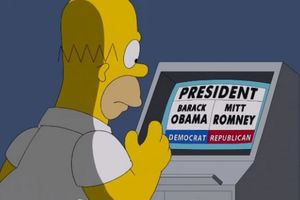 Les Simpson: Homer vote Mitt Romney