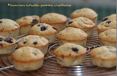 ^^Financiers pomme/noisette & cranberry^^