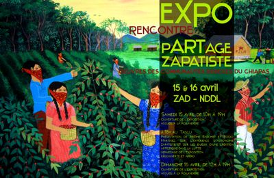 ZAD-NDDL : exposition-rencontre d'oeuvres zapatistes