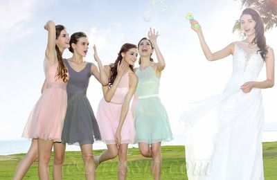 Short Bridesmaid Dresses Make Wedding Funny