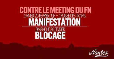 Manifestation unitaire contre le meeting FN à Nantes samedi
