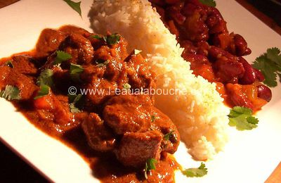 Agneau au Curry & Haricots Rouges-Rogan Josh & Rajma