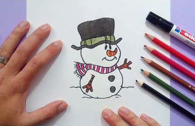 Como dibujar un muñeco de nieve paso a paso 7