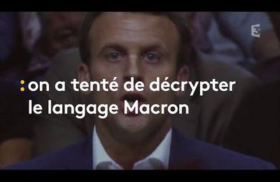 Le langage incompréhensible du président Macron