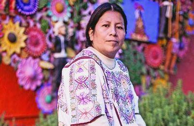 Mexique- Victorina López Hilario tisseuse amuzgo