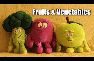 Funny fruits and vegetables dancing