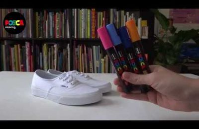DIY : Do It Yourself : Personnaliser des chaussures en toile