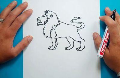 Como dibujar un leon paso a paso 4