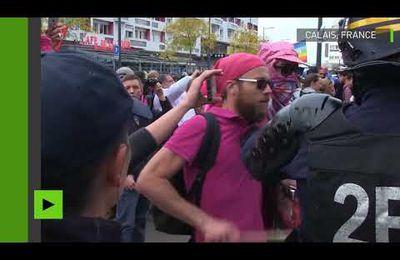 Video. Un rassemblement de soutien aux migrants dégénère à Calais, plusieurs arrestations