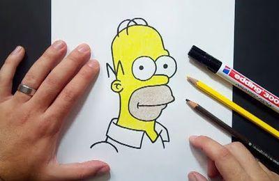 Como dibujar a Homer Simpson paso a paso 5 - Los Simpsons