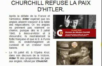 LA BATAILLE D'ANGLETERRE OU COMMENT CHURCHILL RESISTA A HITLER.