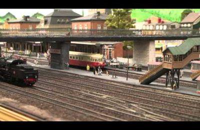 Train miniature HO Chalindrais ligne 2 (2ème réseau d'André Gay) vidéo 19