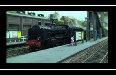 Train miniature HO Chalindrais ligne 2 (2ème réseau d'André Gay) vidéo 41
